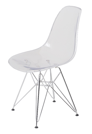 b6bf30c2-c6fd-4cc8-859b-1d6a6dbe6ad3. EAMES DSR transparent chair