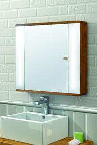 METEORIC Illuminated Bathroom Mirror Cabinet